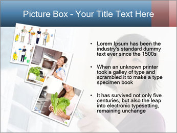 Closeup of a smiling Asian woman PowerPoint Template - Slide 17