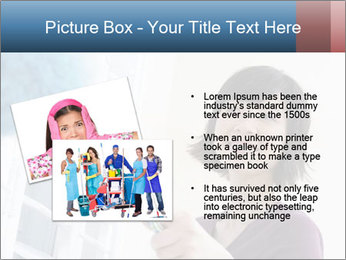 Closeup of a smiling Asian woman PowerPoint Template - Slide 20