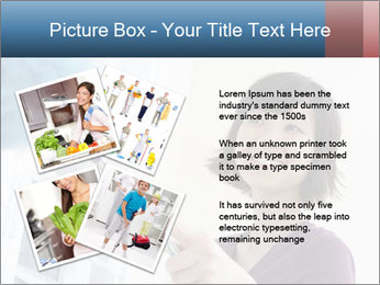 Closeup of a smiling Asian woman PowerPoint Template - Slide 23