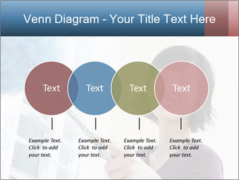 Closeup of a smiling Asian woman PowerPoint Template - Slide 32