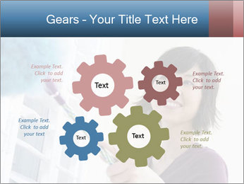 Closeup of a smiling Asian woman PowerPoint Template - Slide 47