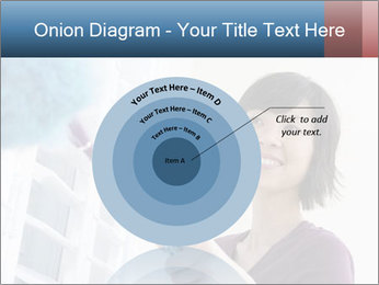 Closeup of a smiling Asian woman PowerPoint Template - Slide 61