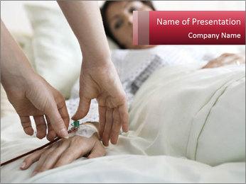Closeup of hands PowerPoint Template - Slide 1