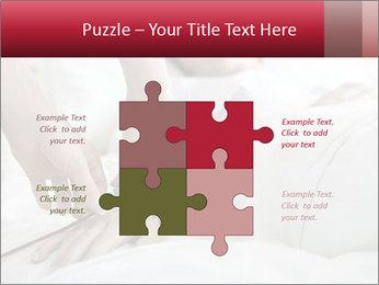 Closeup of hands PowerPoint Template - Slide 43
