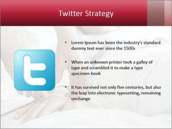 Closeup of hands PowerPoint Template - Slide 9