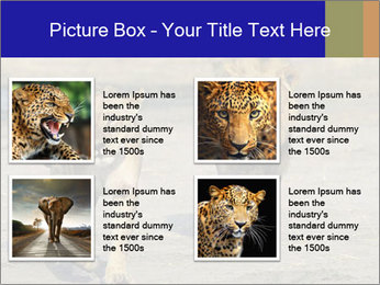 Pair of Lions walking PowerPoint Template - Slide 14