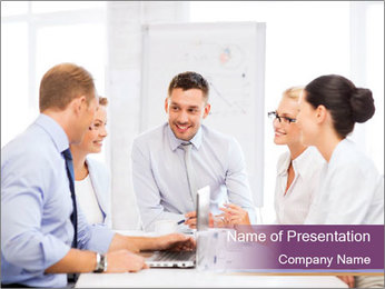 Friendly business team PowerPoint Template