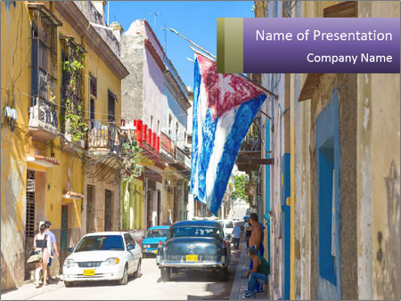 Cuba and the largest city PowerPoint Template