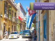 Cuba and the largest city PowerPoint Templates