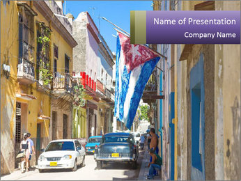 Cuba and the largest city PowerPoint Template - Slide 1