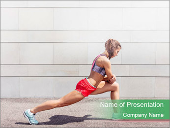 Athletic young woman PowerPoint Template