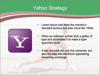 Athletic young woman PowerPoint Template - Slide 11