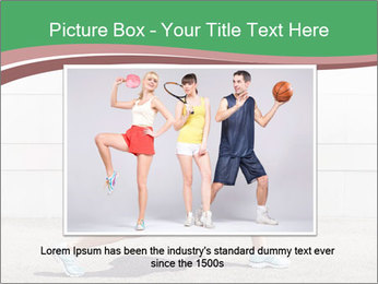 Athletic young woman PowerPoint Template - Slide 15