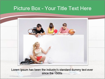 Athletic young woman PowerPoint Template - Slide 16