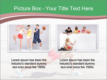 Athletic young woman PowerPoint Template - Slide 18
