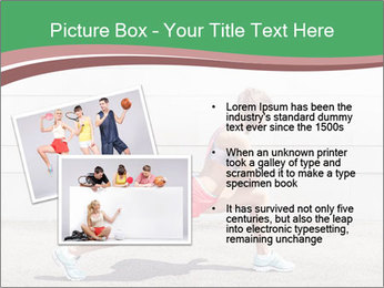 Athletic young woman PowerPoint Template - Slide 20
