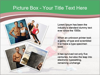 Athletic young woman PowerPoint Template - Slide 23
