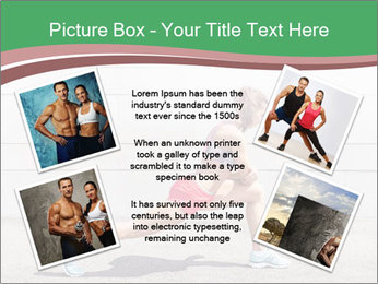 Athletic young woman PowerPoint Template - Slide 24