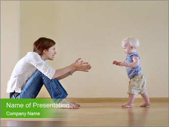 Cute smiling baby PowerPoint Templates - Slide 1