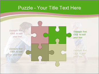 Cute smiling baby PowerPoint Templates - Slide 43