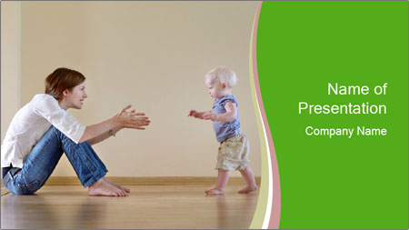 Cute smiling baby PowerPoint Template