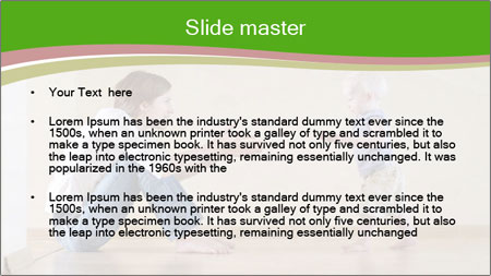 Cute smiling baby PowerPoint Template - Slide 2