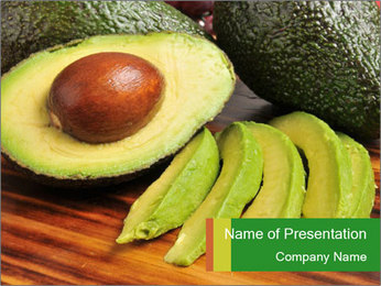 Sliced avocado PowerPoint Template - Slide 1