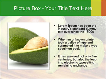 Sliced avocado PowerPoint Template - Slide 13