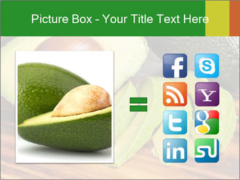 Sliced avocado PowerPoint Template - Slide 21