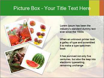 Sliced avocado PowerPoint Template - Slide 23