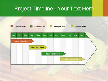 Sliced avocado PowerPoint Template - Slide 25