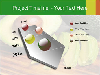 Sliced avocado PowerPoint Template - Slide 26