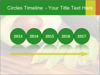 Sliced avocado PowerPoint Template - Slide 29