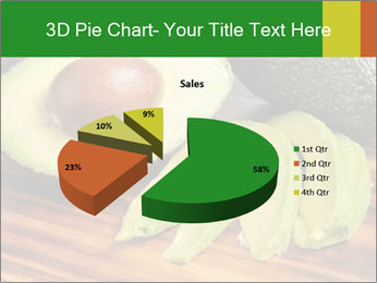 Sliced avocado PowerPoint Template - Slide 35