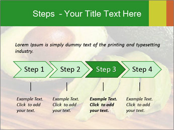 Sliced avocado PowerPoint Template - Slide 4