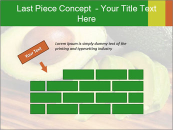 Sliced avocado PowerPoint Template - Slide 46