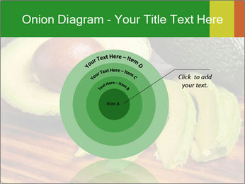 Sliced avocado PowerPoint Template - Slide 61