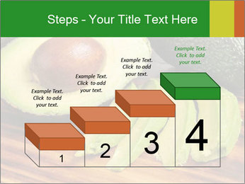 Sliced avocado PowerPoint Template - Slide 64