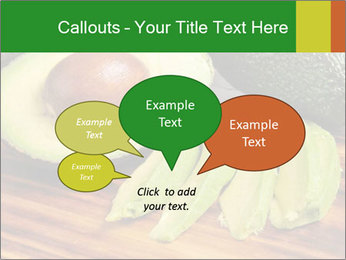 Sliced avocado PowerPoint Template - Slide 73