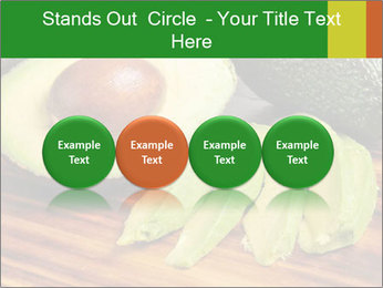 Sliced avocado PowerPoint Template - Slide 76