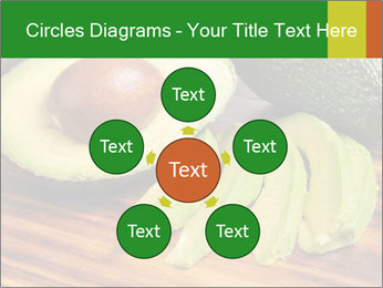 Sliced avocado PowerPoint Template - Slide 78