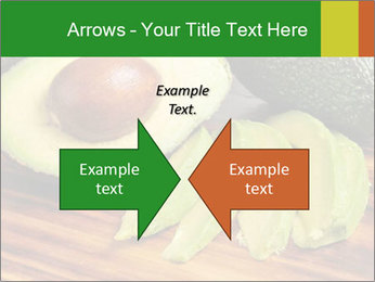 Sliced avocado PowerPoint Template - Slide 90