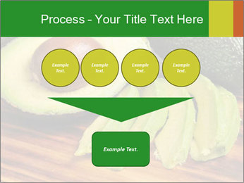 Sliced avocado PowerPoint Template - Slide 93