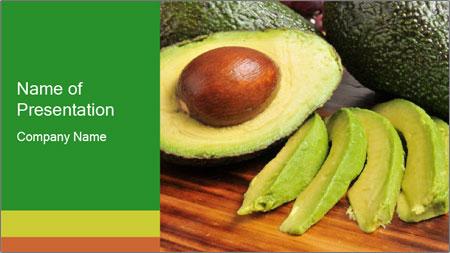 Sliced avocado PowerPoint Template