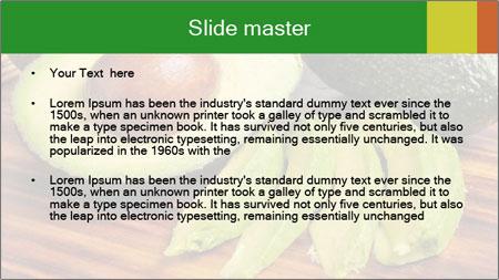 Sliced avocado PowerPoint Template - Slide 2