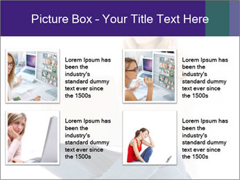 Beautiful and happy woman working PowerPoint Template - Slide 14