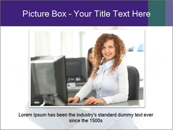Beautiful and happy woman working PowerPoint Templates - Slide 16