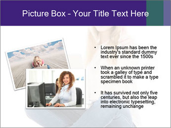 Beautiful and happy woman working PowerPoint Templates - Slide 20