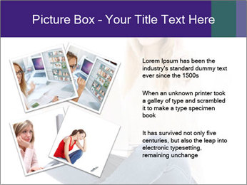 Beautiful and happy woman working PowerPoint Templates - Slide 23