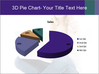 Beautiful and happy woman working PowerPoint Templates - Slide 35